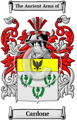 Cardone Name Meaning Family History Family Crest Coats Of Arms Spanish