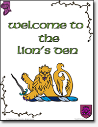 Lions Coloring Book