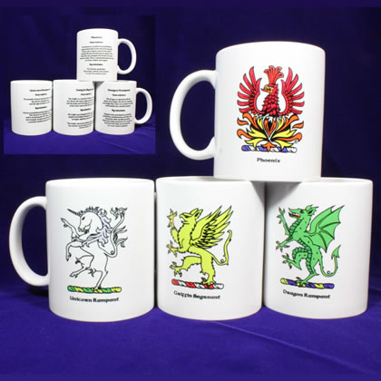 Mythical Creatures of Heraldry Coffee Mugs I
