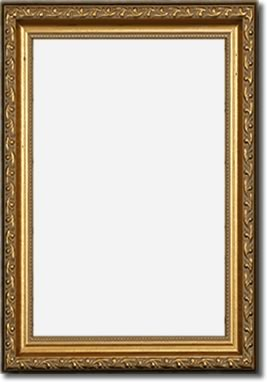 Gold Antiqued Wood Frame - 11 x 17