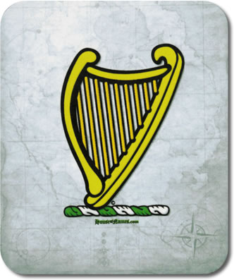 Harp of Heraldry Mouse Pad