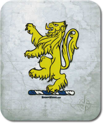 Lion of Heraldry Mouse Pad