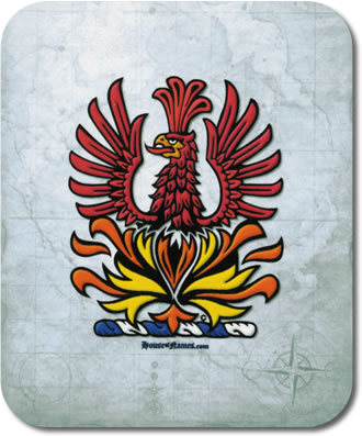 Phoenix of Heraldry Mouse Pad