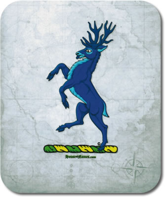 Stag of Heraldry Mouse Pad