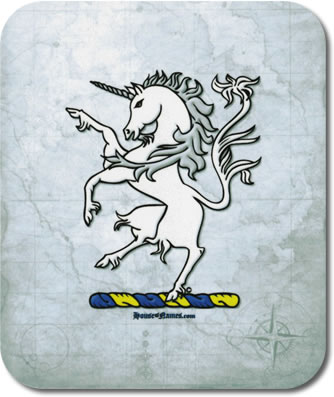 Unicorn of Heraldry Mouse Pad