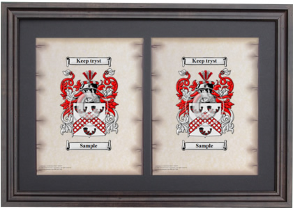 Double Coat of Arms Framed - Brown