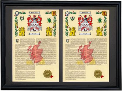 Double Armorial History Framed-Black